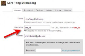 how to find twitter username