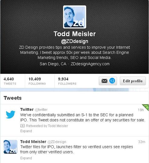 Todd Meisler Twitter Account