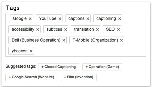 youtube video tags